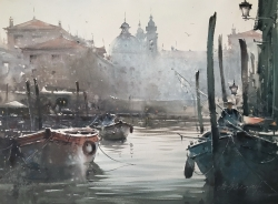 canal-in-venice-watercolor-54x74-cm-artist-dusan-djukaric