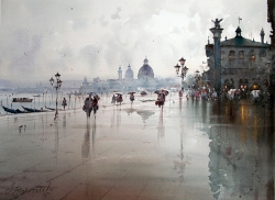 dusan-djukaric-after-rain-in-venice-watercolor-54x74-cm