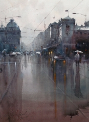 dusan-djukaric-belgrade-national-museum-rainy-day-watercolor-54x74-cm