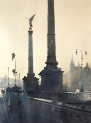 dusan-djukaric-cechuv-bridge-prague-watercolor-54x74-cm