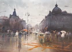 dusan-djukaric-crossroad-in-resavska-watercolor-54x74-cm