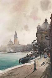 dusan-djukaric-domes-in-venice-watercolor-36x55-cm