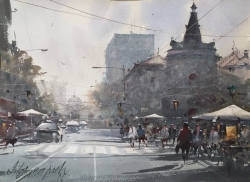 dusan-djukaric-in-front-of-skc-watercolor-37x6-cm