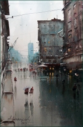 dusan-djukaric-knez-washed-by-rain-watercolor-52x35-cm