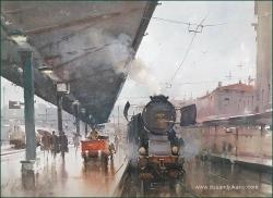 dusan-djukaric-last-romantic-leave-watercolor-54x74-cm