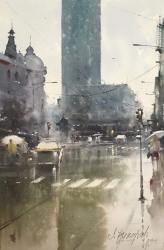 dusan-djukaric-may-rains-watercoor-36x55-cm