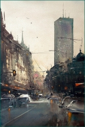 dusan-djukaric-morning-on-terzije-watercolor-36x55-cm