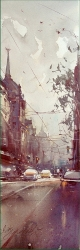 dusan-djukaric-morning-street-king-of-milan-watercolor-17x55-cm-gallery