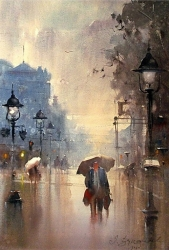 dusan-djukaric-one-day-in-belgrade-watercolor-37x56-cm