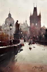 dusan-djukaric-one-day-in-prague-watercolor-36x55-cm