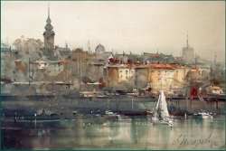 dusan-djukaric-one-day-on-savamala-watercolor-36x55-cm