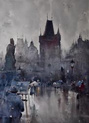 dusan-djukaric-painting-of-prague-watercolor-74x54-cm