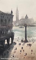 dusan-djukaric-piazza-san-marco-watercolor-56x34-cm