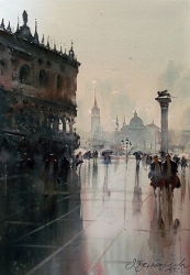 dusan-djukaric-rainy-day-in-piazza-san-marco-venice-36x54-cm