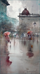 dusan-djukaric-reflectionwatercolor-28x54-cm-gallery