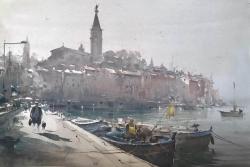 dusan-djukaric-rovinj-watercolor-36x55-cm
