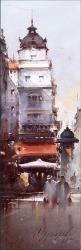 dusan-djukaric-russian-tsar-belgrade-watercolor-17x55-cm
