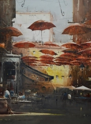 dusan-djukaric-story-under-the-umbrella-111x83-cm