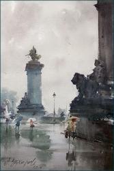 dusan-djukaric-the-smell-of-rain-in-paris-watercolor-36x55-cm