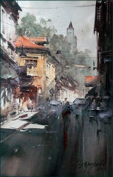 dusan-djukaric-the-street-with-a-soul-watercolor-36x55-cm