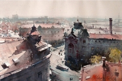 dusan-djukaric-through-the-streets-of-savamala-watercolor-37x56-cm