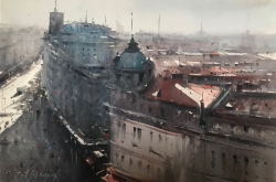 dusan-djukaric-view-from-her-window-watercolor-36x55-cm