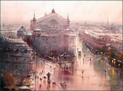 dusan-djukaric-view-on-paris-and-opera-garnier-watercolor-54x74-cm