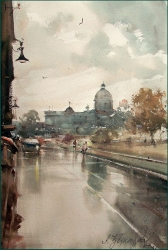 dusan-djukaric-view-on-parlament-watercolor-36x55-cm-gallery