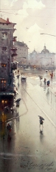 dusan-djukaric-view-on-square-watercolor-17-5x55-cm