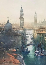 dusan-djukaric-view-over-the-roofs-watercolor-54x37n-cm