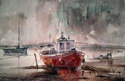 dusan-djukaric-watercolor-after-rain-38x56-cm