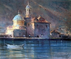 dusan-djukaric-watercolor-gospa-od-skrpjela