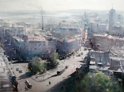 dusan-djukaricview-on-old-town-watercolor-54x74-cm