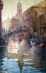 dusan-djukaricwatercolor-morning-in-venice