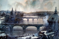 dusan-djukaricwatercolor-prague38x56-cm