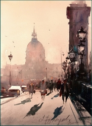 dusan-djukaric-a-sunny-day-in-paris-watercolor-26x36cm-gallery