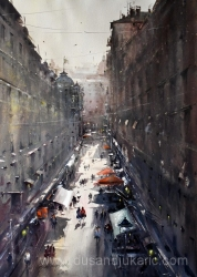 dusan-djukaric-a-view-from-my-window-watercolor74x54-cm