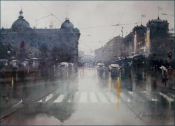 dusan-djukaric-after-rain-on-the-square-watercolor-54x74-cm-gallery