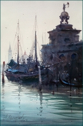 dusan-djukaric-azure-of-venice-watercolor-36x55-cm