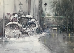 dusan-djukaric-bicycle-watercolor-74x54-cm