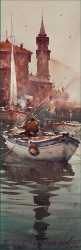 dusan-djukaric-fisherman-in-perast-watercolor-17x55-cm-gallery