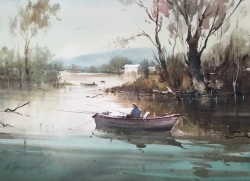 dusan-djukaric-fishermen-watercolor-74x54-cm