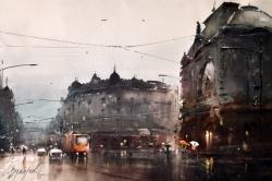 dusan-djukaric-geozavod-karadjordjeva-street-watercolor-36x55-cm