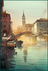 dusan-djukaric-greetings-from-venice-watercolor-37x55-cm