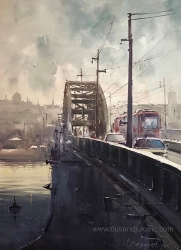 dusan-djukaric-its-still-there-watercolor-74x54-cm