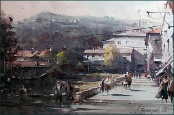 dusan-djukaric-knin-watercolor-55x36-cm