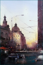 dusan-djukaric-late-afternoon-watercolor-37x55-cm