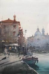 dusan-djukaric-morning-in-venice-watercolor-36x55-cm