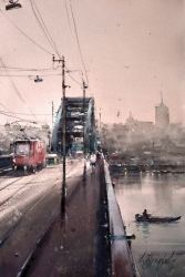 dusan-djukaric-old-bridge-watercolor-36x55-cm