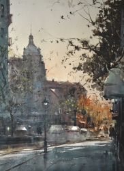 dusan-djukaric-one-day-in-decembar-watercolor-74x54-cm